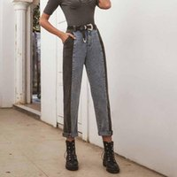 Vintage Harem Jeans Women High Waist Denim Pants Mujer Strai...
