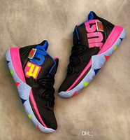 2019 nueva venta Kyrie 5 V Black Magic Multi-Color Confetti Nuevo Irving 5 Sport Sneakers Charms Zapatos de baloncesto Irving Tamaño 7-12 xian