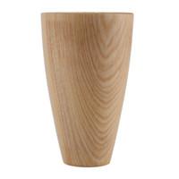 صديقة للبيئة اليدوية كوب خشبي بدائية مصنوعة يدويا الخشب الطبيعي القهوة الشاي البيرة عصير الحليب شرب أدوات منزلية جديدة