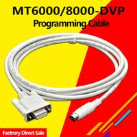 MT6000-DVP Adatto Veinview MT6000 / MT8000 HMI Per Delta DVP Serie PLC programmazione via cavo MT8000-DVP 9 pin 8pins maschio-ROUND