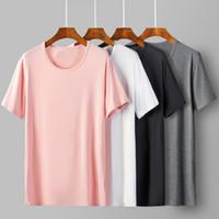 Männer T-Shirts 2021 Cool T-Shirt Männer Weiche 95% Bambusfaser Hip Hop Basic Leere Weiß T-Shirt Sommer Top T-Shirt Tops Homme T-Shir