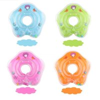 4 Colors 0- 2T PVC Baby Infant Swimming Neck Ring Float Infla...