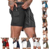 Nouveau Hommes Sport Gym Compression Téléphone Pocket Wear Sous Base couche courte Pantalons athlétique solides Collants Pantalons shorts de course
