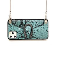 luxury phone case Snake pattern Crossbody bag for iphone 11 ...