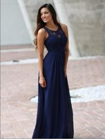 2020 Country Royal Blue Bridesmaid Dresses Sheer Crew Lace S...