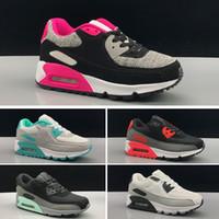 best cheap bd34e c39f3 Nike Air Max 90 Sneakers Schuhe klassische 90 junge Mädchen Kinder Kinder  Laufschuhe Schwarz Rot Weiß