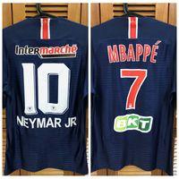 P * G 18/19 Jogador de Jogador Grupo Cup Home Camisa Jersey Mangas Curtas Cavani Mbappe Neamar Futebol Futebol Nome Personalizado Patches Patrocinador