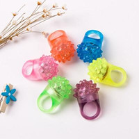 Flashing Bubble Ring Rave Party Blinking Soft Jelly Glow Cool Led Light Up Silicone Cheer Prop Cheer Prop Finger Lamp 000