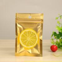 100 قطع ماتي الذهب الألومنيوم احباط شفافة ziplock حقيبة الغذاء الحلوى هدية أكياس التعبئة الكبيرة الحقيبة البلاستيكية الصغيرة مع الثقوب