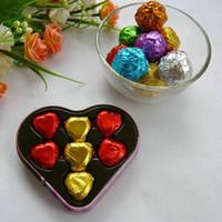 800pcs / Lot New Style 8x8cm Colorful Foil envoltório de papel para lanches Chocolates Rebuçados Sweet Candy embalagem Papel da folha de lata
