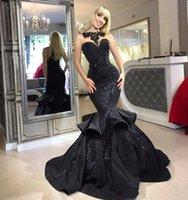 2020 Mermaid Plus Tamaño Vestido de novia gótico negro Abito da Sposa Cuello alto Cuello Applique Saudita Arabia Vintage Boda Boda Vestidos nupciales