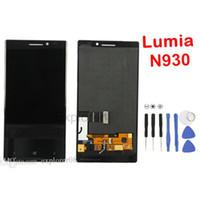 اختبار مرت العرض LCD تعمل باللمس محول الأرقام الجمعية مع الإطار لنوكيا Lumia 930 مباراة N930 LCD الجمعية + الزجاج المقسى + أدوات 1PCS