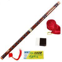Flauta de bambú de alta calidad Flautas de vientos de madera profesionales Instrumentos musicales C D E F G Tecla china dizi Transversal Flauta