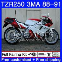 키트 YAMAHA TZR250RR TZR-250 TZR 용 250 88 89 90 91 핫 세일 화이트 바디 244HM.37 TZR250 RS RR YPVS 3MA TZR250 1988 1989 1990 1991 페어링