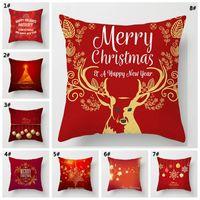С Рождеством Христовым украшения наволочка Красный Санта мягкая наволочка Рождество наволочка Xmas наволочка украшения дома DBC VT0539