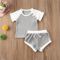 0- 30M Toddler Baby Girl Boy Clothes Sets Ribbed Knitted Cott...