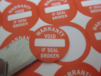 1000pcs 1. 2cm screw hole sealing label sticker void if seal ...