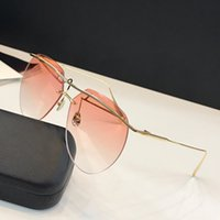 AAA+ Fashion designer sunglasses 0155 Frameless high- end Lux...