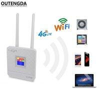 Routeur sans fil de 150Mbps déverrouillé 4G LTE Wifi avec carte SIM SLOTRJ45 PORT Dual Antennes externes pour la maison