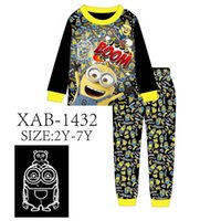 Wholesale Boys Black Pajamas Sets 2018 Kids Night Light Clot...