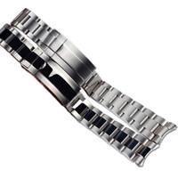 Jawoder Watchband 20 21mm Or Politis intermédiaire d'or Nouveaux Hommes Entrée courbée En acier inoxydable Bracelet Bracelet de bracelet pour Rolex Submariner GMT