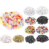 100pcs 6mm Mix Buchstabenperlen Platz Buchstabenperlen Acryl-lose Korn-DIY Schmucksachen, die für Armband Halskette Zubehör Großhandel