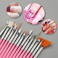 15 adet / takım Nail Art Fırçalar Profesyonel Tasarım Süsleyen Boyama Çizim UV Lehçe Fırça Kalem Araçları Set Kiti Hiaisb