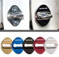 자동차 스타일링 도어 잠금 커버 Toyota Rav4 보호 및 장식 자동차 액세서리 스티커