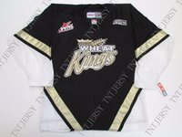 New Arrival. Cheap custom BRANDON WHEAT KINGS WHL BLACK VINTAGE CCM HOCKEY  JERSEY stitch add any number any name Mens ... fadf15af4