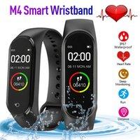 M4 Akıllı Bant 4 Reel Nabız Tansiyon Bileklikler Spor Smartwatch Monitör Sağlık Spor Tracker Akıllı İzle Bileklik PK M3