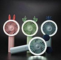 Taşınabilir Gece Işığı Mini Fanlar Parti Favor OOA8016 Şarj Karikatür Hayvan Fan Tavşan Geyik El USB