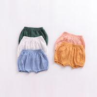 Bebek Pamuk PP Şort Çocuk Yaz Ekmek Pantolon Şort Kız bebekler Ins PP fırfır Bloomer Kısa 5 Renk