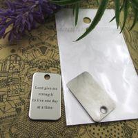 40шт - «Господи, дай мне силы, чтобы жить один день за один раз» прелесть из нержавеющей стали больше стиля для выбора DIY очаровывает подвески для ожерелья