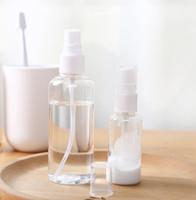 100ml Limpar spray garrafas vazias recarregáveis recipiente plástico transparente Garrafa Hand Sanitizer viagem Atomizador Perfume Bottle nova GGA3442