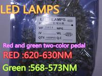 전자 부품 100pcs / lot 3mm 빨강 및 녹색 2 색 포드 LED 램프 다이오드 재고 있음
