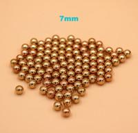 7mm Solid Brass (H62) Bearing Balls للمضخات الصناعية والصمامات والأجهزة الإلكترونية ووحدات التدفئة وقضبان الأثاث