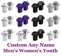 2020 Baseball-Shirts Nolan Arenado Jersey Charlie Blackmon Daniel Murphy Dahl Trevor Geschichte Yency Yonathan Daza Almonte Individuelle genähtes Herren
