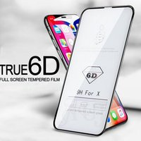 6D Curved Screen Protector for iPhone X 6 6plus 7 7plus Temp...