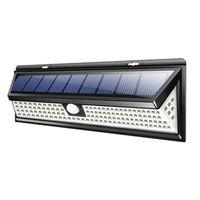 180COB / 118 LED 태양 벽 램프 방수 넓은 각도 야외 정원 마당 주차장 긴급 보안 조명 벽 조명