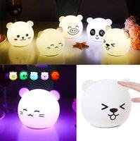 Niedlichen Cartoon Lichter Panda Schwein Bär Tier nigh Licht Neuheit Kinder Nacht Lampe wiederaufladbare Weiche Silikon bady Schlaflampe Schlafzimmer Decor