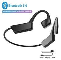 2020 Nueva K08 para auriculares inalámbricos Bluetooth 5.0 conducción ósea Auriculares inalámbricos Deportes auriculares del gancho del oído con el Mic 20X DHL