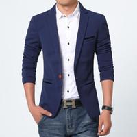 Nouvelle Arrivée Hommes Blazer Nouveau Spring Fashion Marque Haute Qualité Coton Manteau Slim Fit Hommes costume Terno Masculino Blazers Hommes