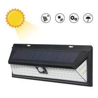 Su geçirmez 90 LEDs Güneş Işık Duvar Lambası Hareket Sensörü Açık Bahçe Avlu Yolu Çim Parlak Duvar Işıkları