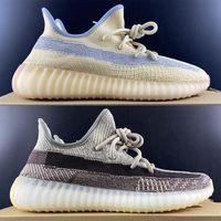 Сток V2 Kanye West Shoes Мужские льняные Светоотражающие Zyon Flak Marsh Cinder Черный Статический Пустынный Мудрец Земля Хвоста Свет облака Белая Глиняная Кроссовки