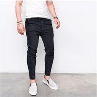 Uzun Kalem Pantolon Casual Slim Jeans Erkek Markalar Fit İnce Pantolon Elastik Bel Erkek Pantalones S-3XL