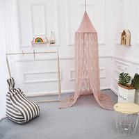 우아한 라운드 레이스 곤충 침대 캐노피 그물 커튼 돔 모기장 새로운 키즈 소녀 방 침구 장식 여름 제품