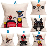 Free Customized New Pillow Cover Hot Cotton Cartoon Dog Line...