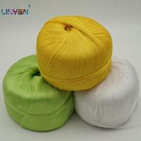 Hilado 3 bolas * 100 g de seda Yamamai para tejer hielo bordado hilo verano ganchillo algodón ZL6495