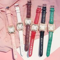 Moda donna orologio in pelle PU cinturino in pelle orologi al quarzo per signore vestito da polso orologi romani numeri romani orologio da polso analogico braccialetto regalo di natale