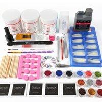 Liquid Pro Acrylique Nail 120g Poudre Acrylique Kit manucure Gel Nail Kit ALL Manucure de pinceau Outils d'art